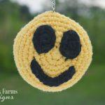 crochet smiley face