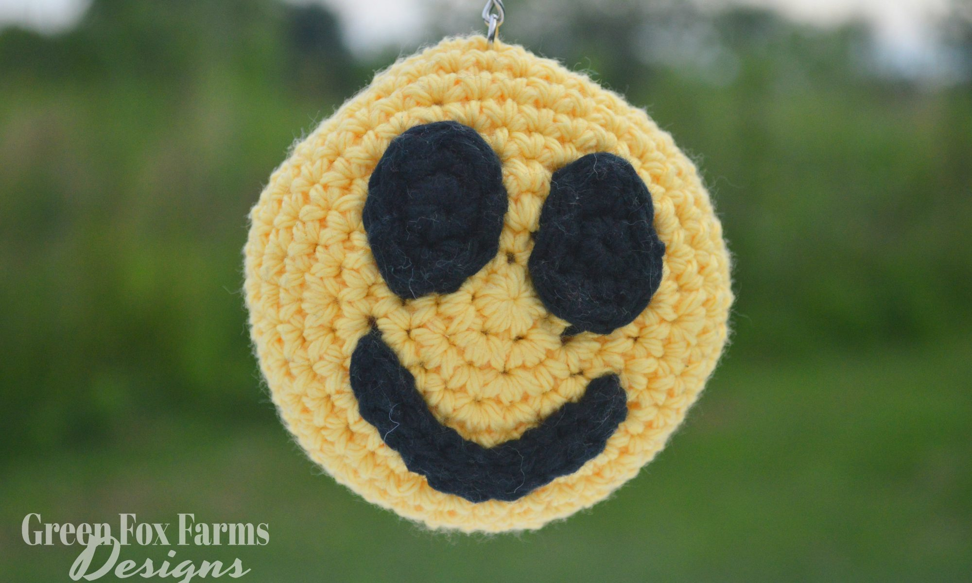 crochet smiley face