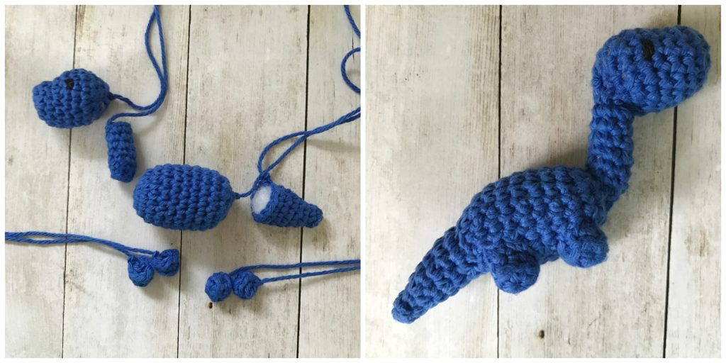 This amigurumi dinosaur is just so cute! Download the pattern ... | 512x1024