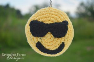 crochet emoji with sunglasses