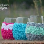 crochet wine glass cozy set of 3