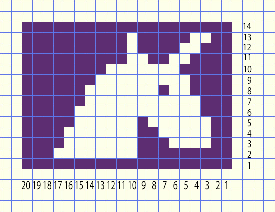 unicorn head crochet graph