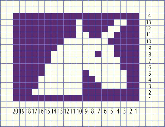 unicorn head crochet graph