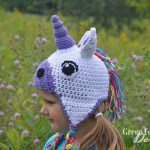 unicorn hat crochet pattern www.greenfoxfarmsdesigns.com