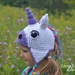 unicorn hat crochet pattern www.greenfoxfarmsdesigns.com