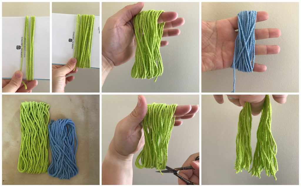 tassel making tutorial collage