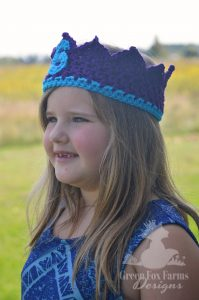 little girl in 6 year old birthday crown