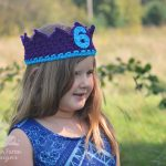 Birthday Crown Crochet Pattern - www.greenfoxfarmsdesigns.com
