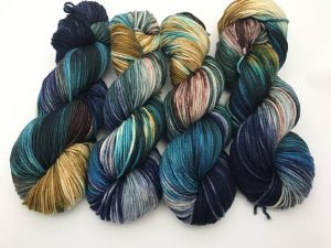 4 hanks of beautifully hand dyed
