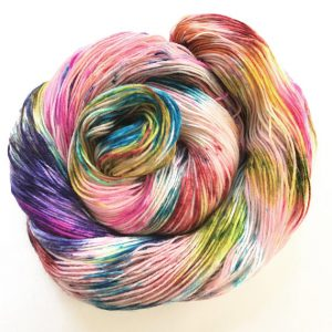 beautiful hand dyed sock yarn in a rainbow of colors