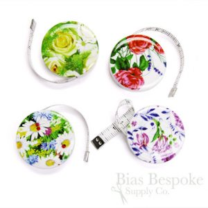 4 floral tape measures