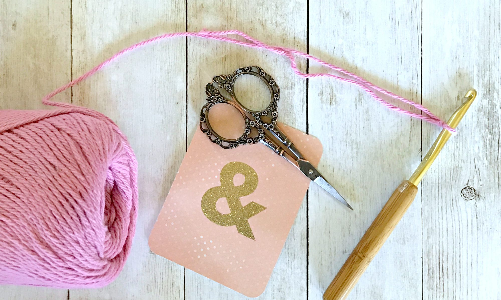yarn scissors crochet hook