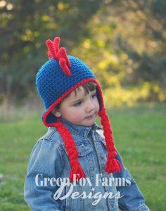 Dinosaur Hat Crochet Pattern www.GreenFoxFarmsDesigns.com