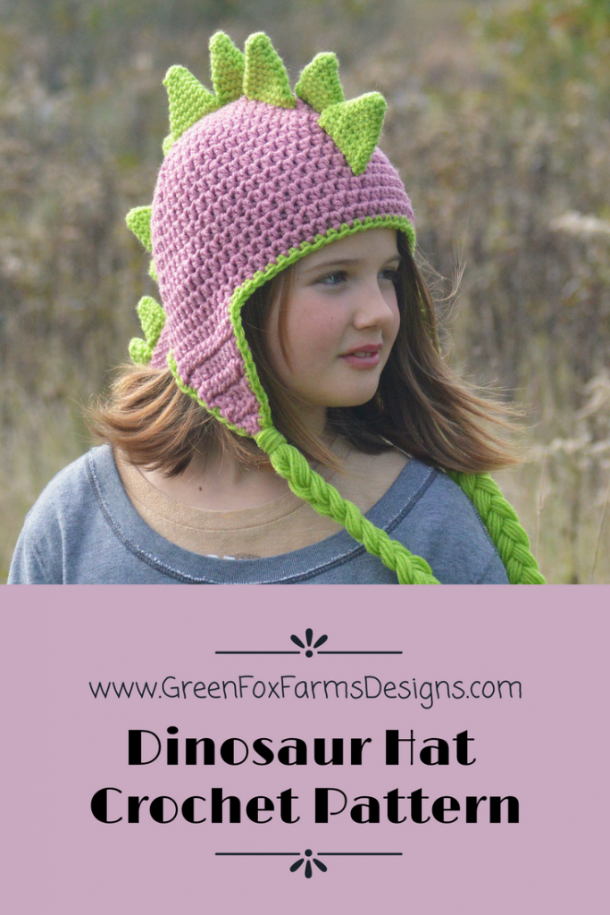 Dinosaur Hat - New Pattern Release and SALE! • Green Fox Farms Designs a9175523b70