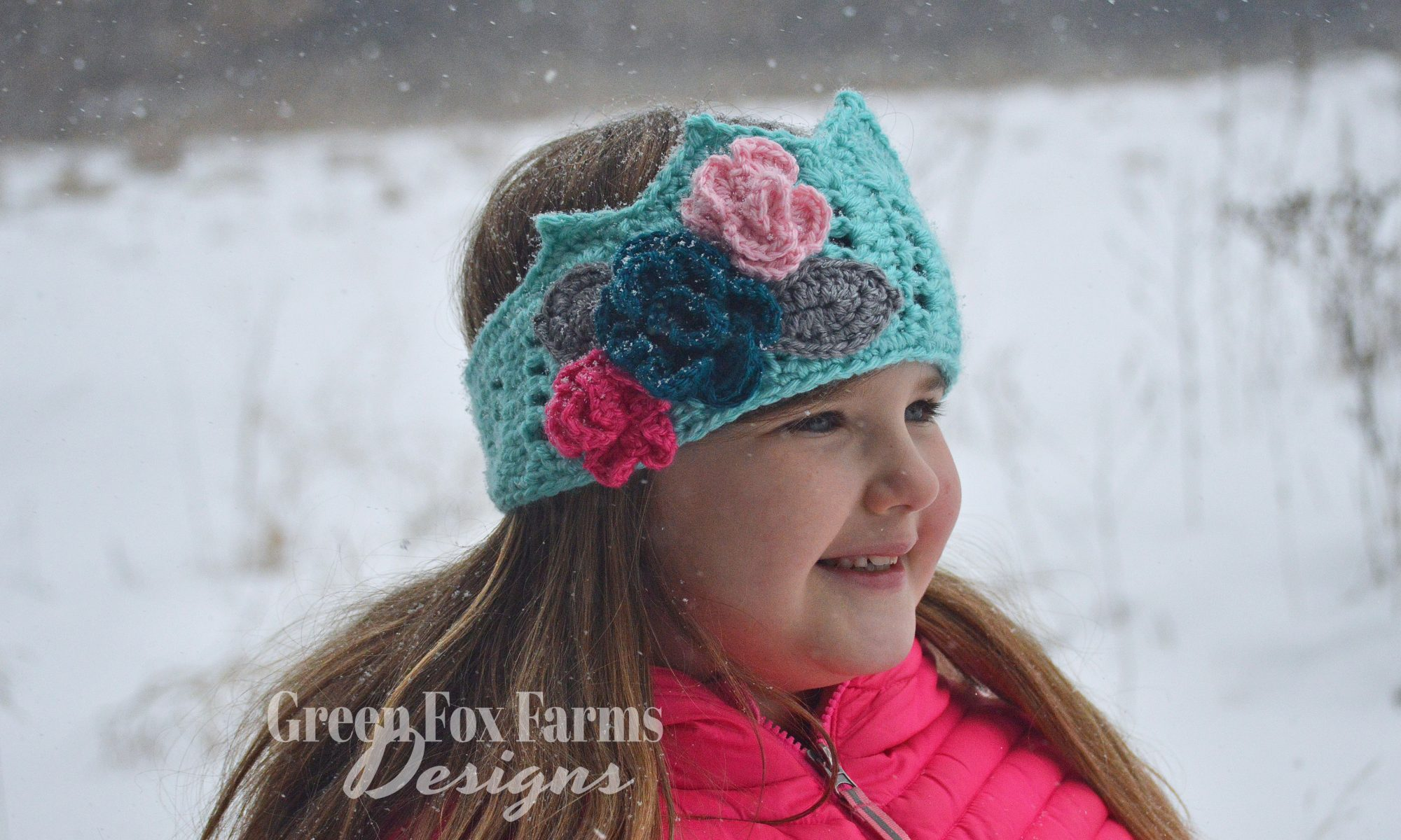 Crochet Crown Ear Warmer www.greenfoxfarmsdesigns.com