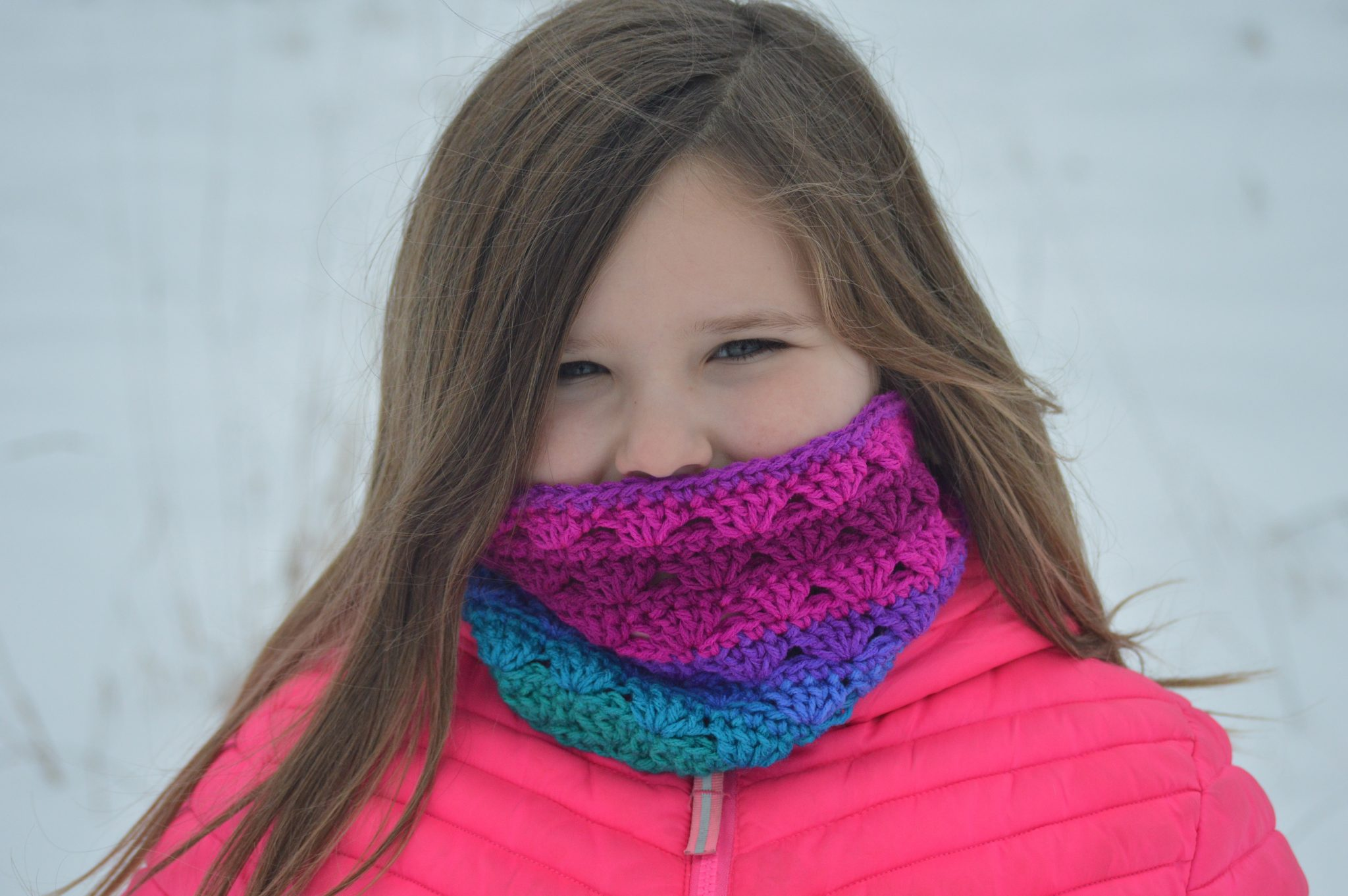 Sweet Stripes Circle Scarf – Free Crochet Pattern