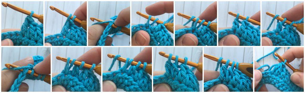 dc2tog - crochet decrease stitches guide - www.greenfoxfarmsdesigns.com