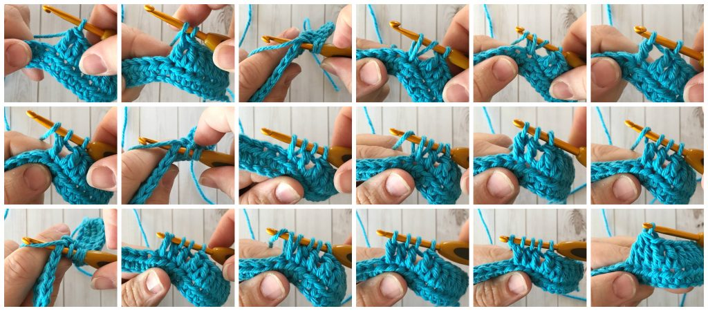 dc2tog - crochet decrease stitches guide - www.greenfoxfarmsdesigns.com