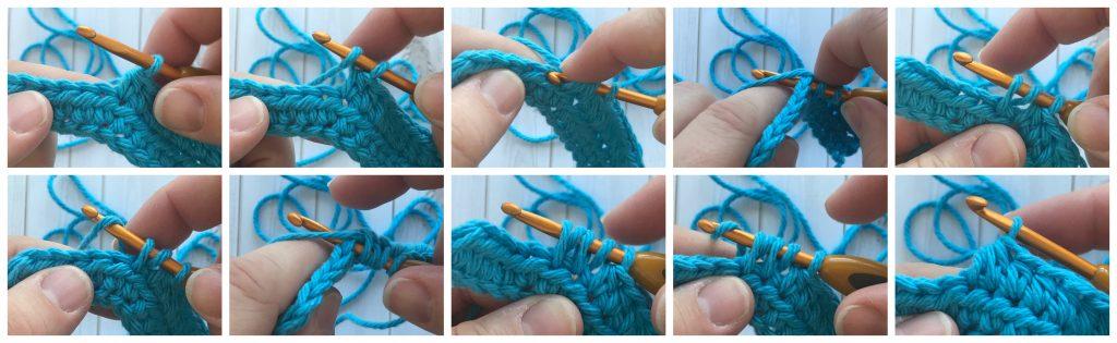 hdc2tog - crochet decrease stitches guide - www.greenfoxfarmsdesigns.com
