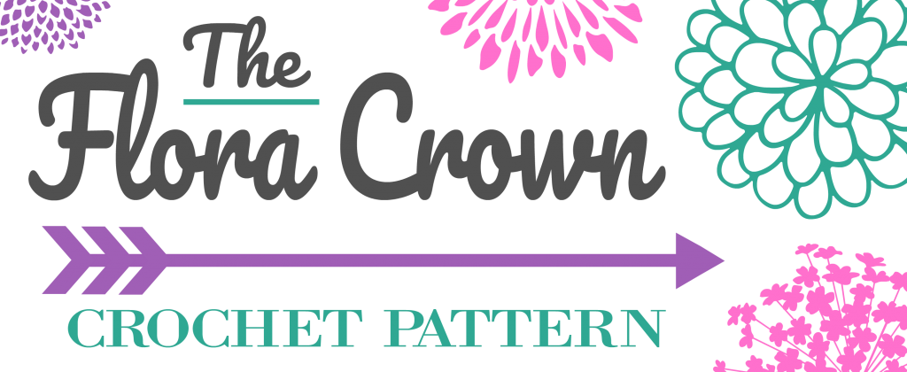 Flora Crown - Crochet Pattern - www.greenfoxfarmsdesigns.com