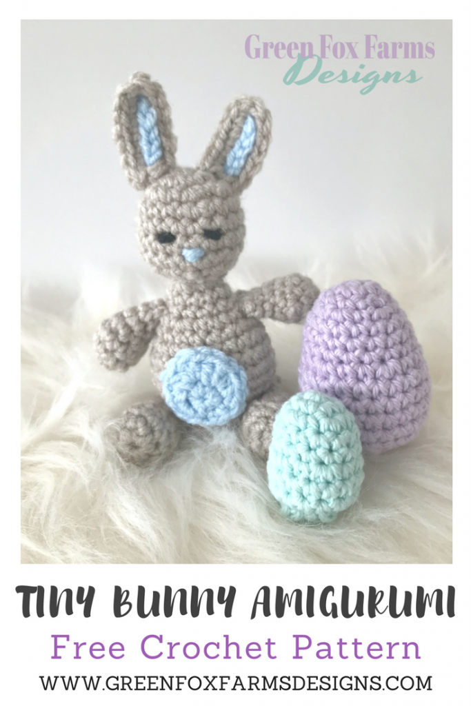 Tiny Bunny Amigurumi Free Crochet Pattern Green Fox Farms Designs