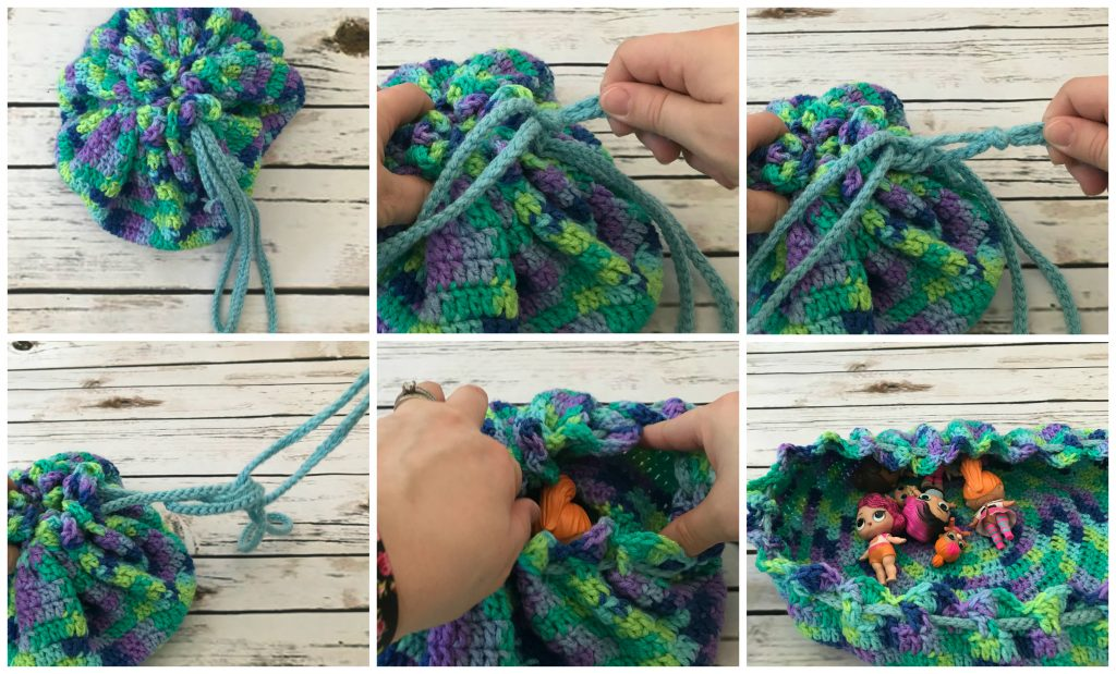 Dc Dice Bag And Tray Free Crochet Pattern Green Fox Farms Designs