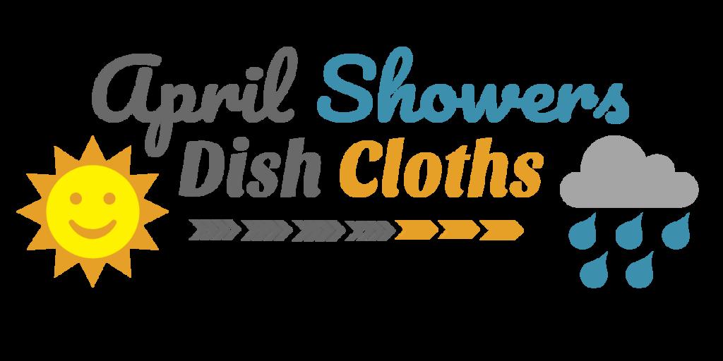 April Showers Dish Cloths - Free Crochet Pattern - April Showers Cloud Cloth - Free Crochet Wash Cloths Pattern - April Showers Sun Cloth - Handmade Home Crochet - www.greenfoxfarmsdesigns.com