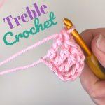 Treble Crochet - Crochet Stitch Tutorial - Photo and Video Tutorial - TRC Stitch Tutorial - www.greenfoxfarmsdesigns.com