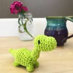 Tiny Dinosaur Amigurumi - Dino Crochet Pattern - Free Dinosaur Crochet Pattern - Amigurumi Free Pattern - Tiny Dino Free Crochet Pattern - www.greenfoxfarmsdesigns.com