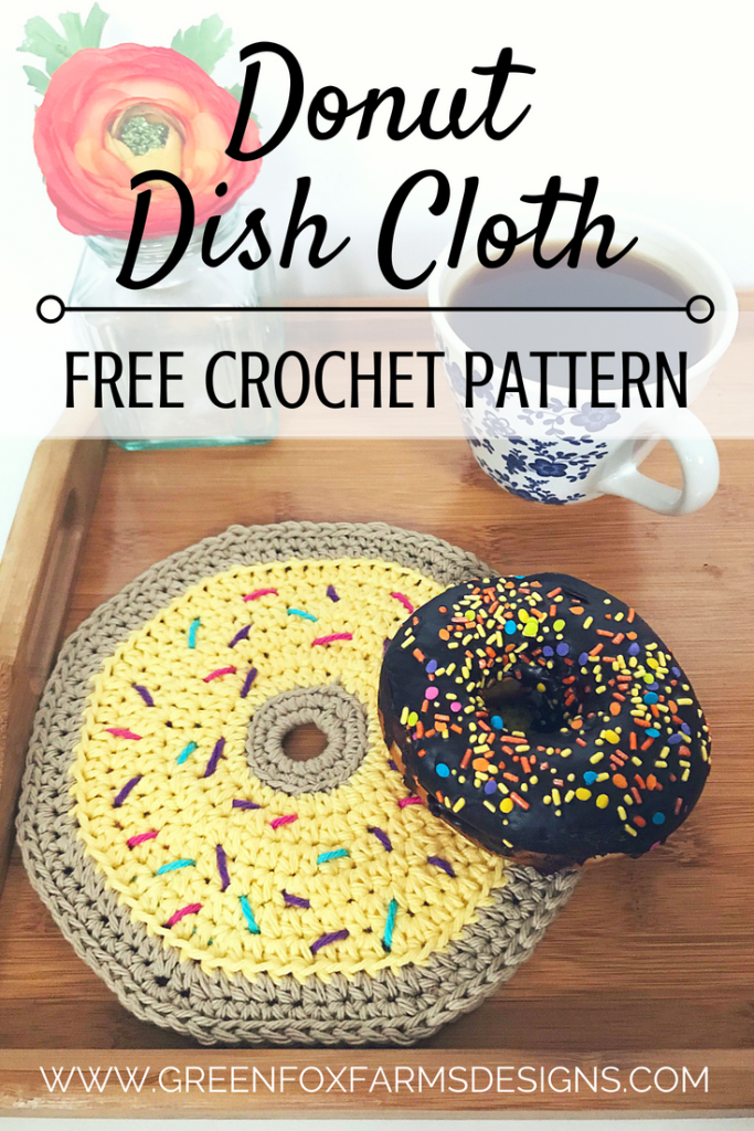 Donut Dish Cloth Free Crochet Pattern Green Fox Farms Designs
