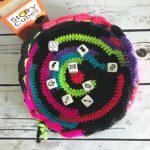 DC Dice Bag - Free Crochet Pattern - Drawstring Bag - Easy Crochet Pattern - Dice bag - Beginner Crochet - www.greenfoxfarmsdesigns.com