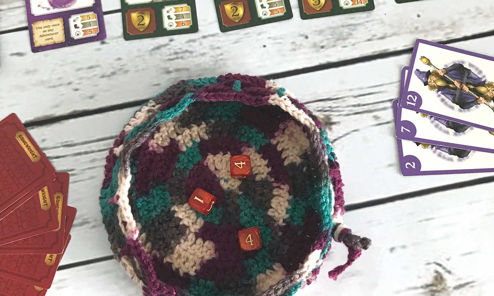 DC Dice Bag - Free Crochet Pattern - Drawstring Bag - Easy Crochet Pattern - Dice bag - Beginner Crochet - www.greenfoxfarmsdesigns.com