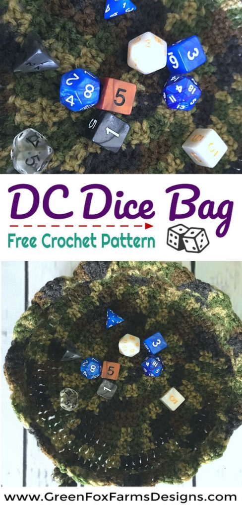 Dc Dice Bag Free Crochet Pattern Drawstring Easy