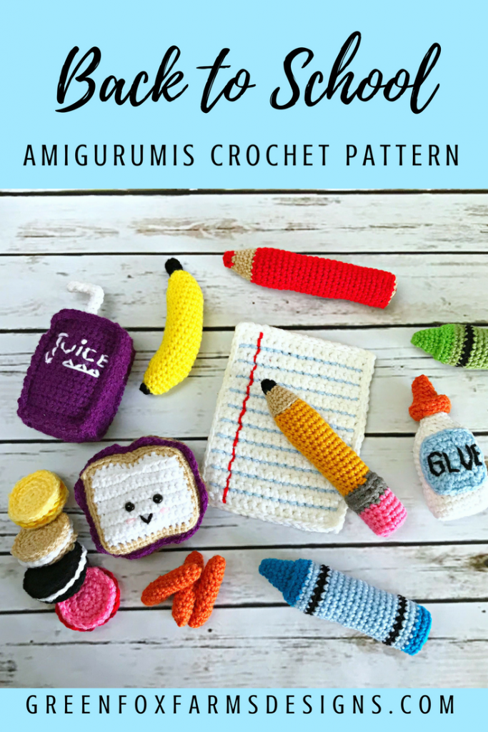 Back to School Amigurumis. New Crochet Pattern ON SALE! I am so excited to introduce  my ... 40bc18820c18c
