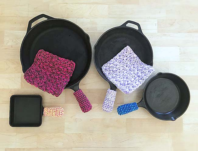Cast Iron Pot Holders – Free Crochet Pattern