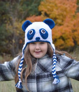 Panda Hat Pattern - Easy Crochet Pattern - Panda Bear Beanie - Ear Flap Hat Pattern - Fall Must Haves - Panda Bear - Winter Hat - Crochet Pattern - www.greenfoxfarmsdesigns.com