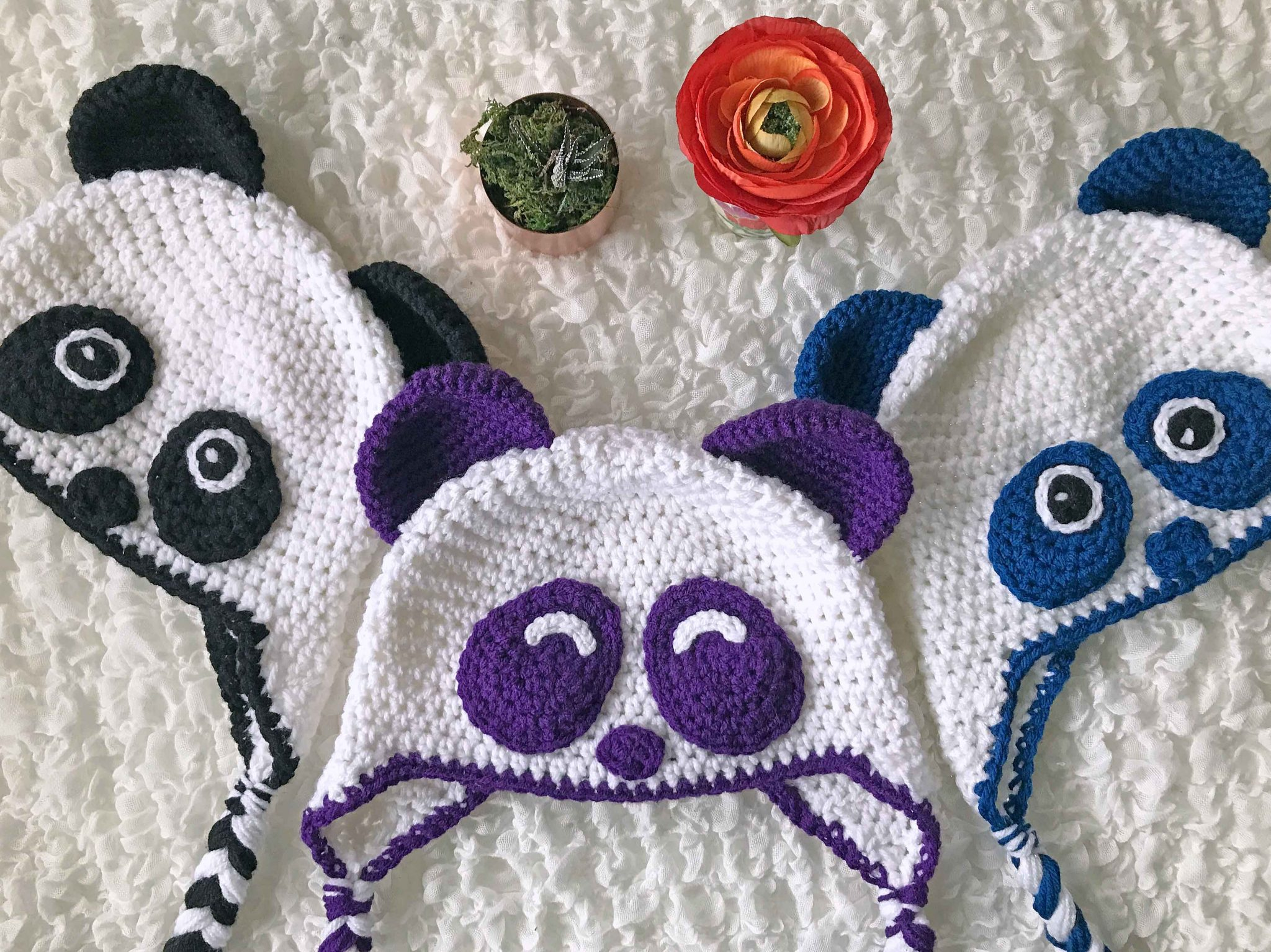 Cozy Panda Hat Crochet Pattern