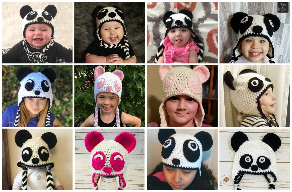 Panda Hat Pattern - Crochet Panda Bear Hat - Crochet Pattern - Panda Bear - Easy Crochet Pattern - Winter Hat - Fall Must Haves - Crochet Panda Hat - Winter Essentials - www.greenfoxfarmsdesigns.com
