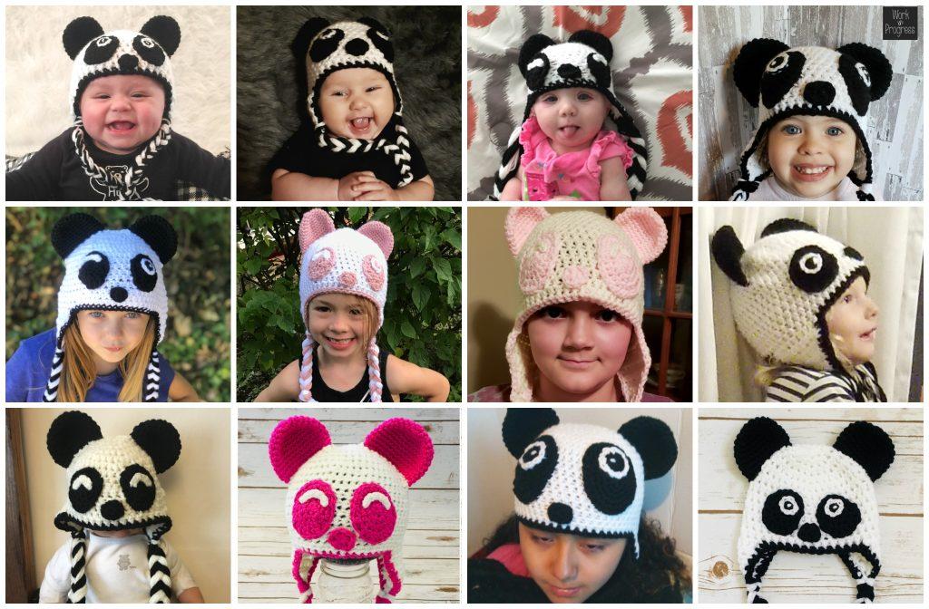 Cozy Panda Hat Crochet Pattern Green Fox Farms Designs