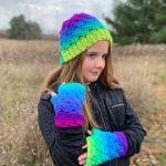Sweet Stripes Collection - Fingerless Gloves - Slouchy Hat - Crochet Pattern - Winter Wear - Easy Crochet Pattern - Slouch Pattern - Fingerless Mittens Pattern - greenfoxfarmsdesigns.com