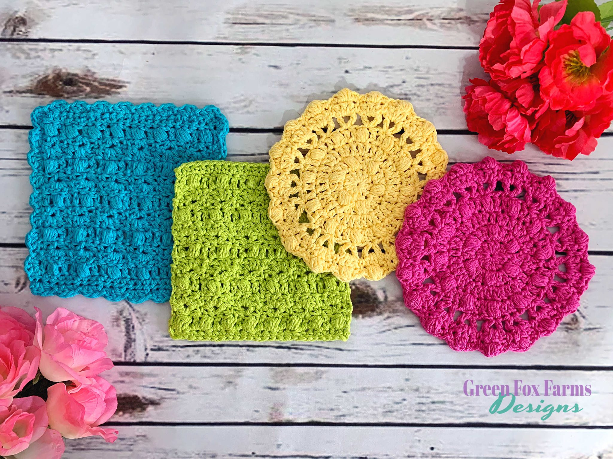 Flora Dish Cloths – Free Crochet Pattern