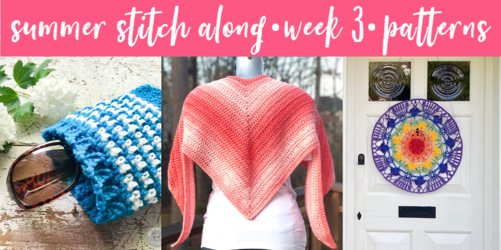 Summer Stitch Along Week 3 - Free Crochet Patterns - Summer Crochet Pattern Roundup - greenfoxfarmsdesigns.com