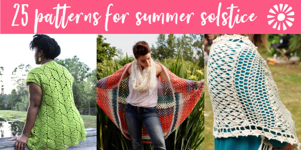 25 Crochet Patterns for Summer - Free Crochet Patterns - Summer Solstice Crochet Pattern Roundup - greenfoxfarmsdesigns.com
