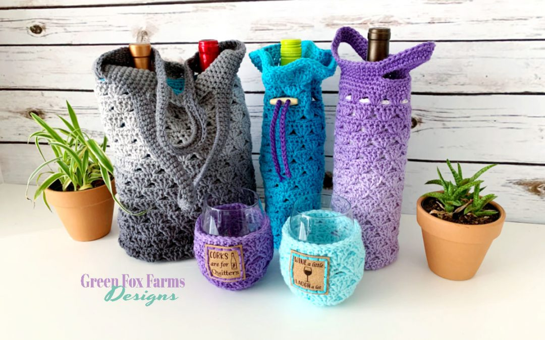 Sweet Stripes Wine Tote Crochet Pattern