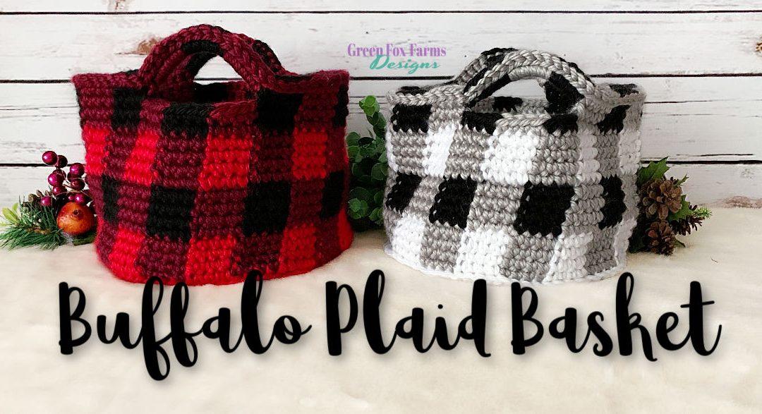 Buffalo Plaid Basket