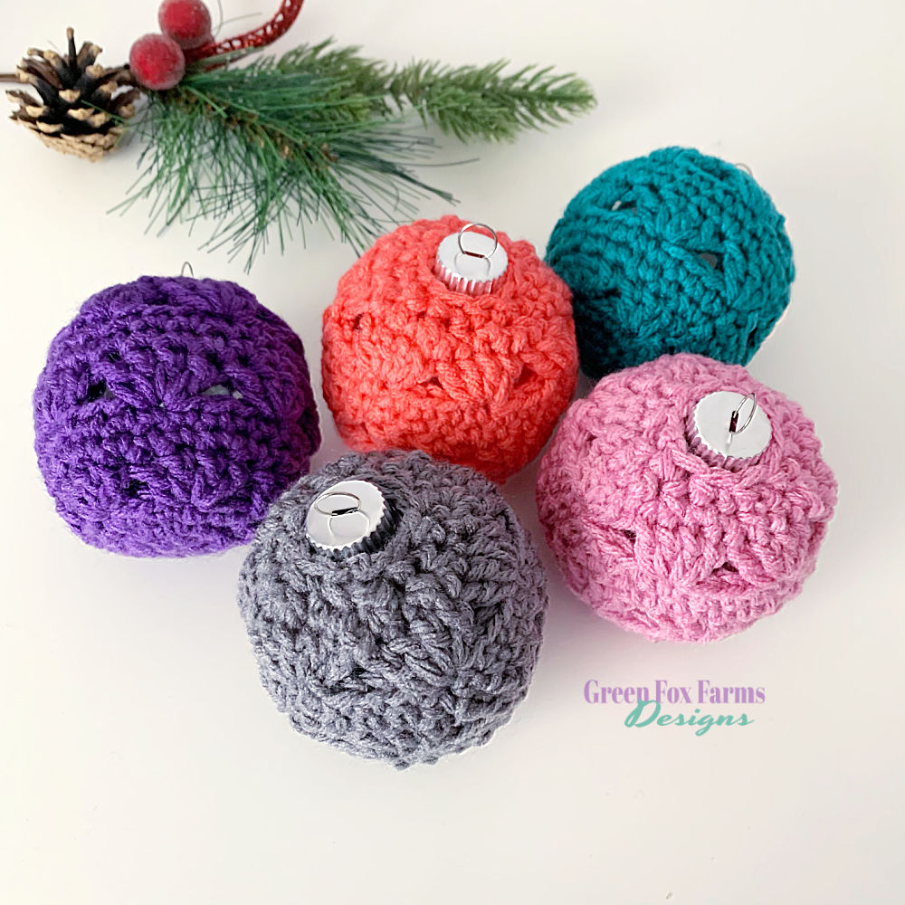Sweet Stripes Ornament Pattern will help you create Beautiful colorful crocheted Christmas Baubles to decorate your tree this holiday season! Crochet your own Christmas Decorations with the quick and easy crochet pattern! Christmas Ornament crochet tutorial shows you how to make a crochet ornament for your Christmas tree! Crochet Pattern by greenfoxfarmsdesigns.com