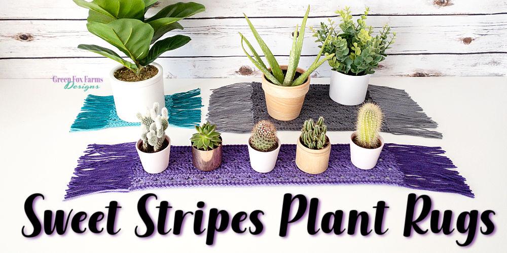 Sweet Stripes Plant Rugs Pattern