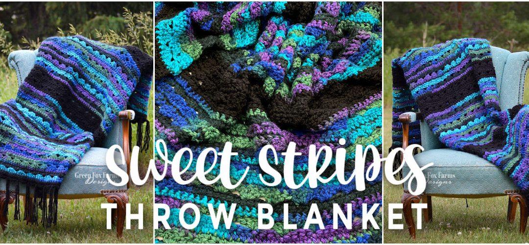 Sweet Stripes Throw Blanket