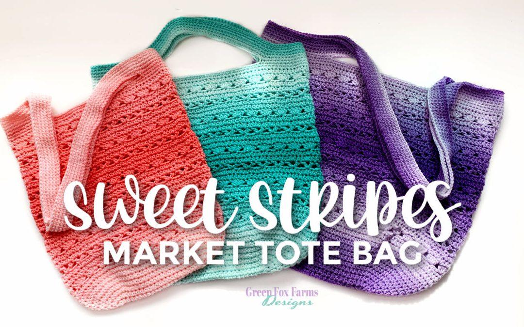 Sweet Stripes Market Tote Crochet Along