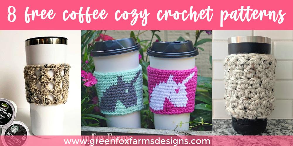 8 Free Coffee Cozy Patterns